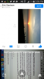 Taking photos with Fecbook messenger