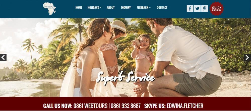 webtour getaways homepage