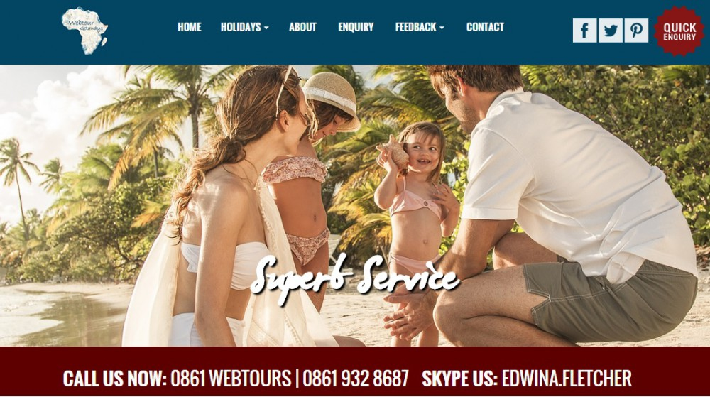 webtour getaways homepage