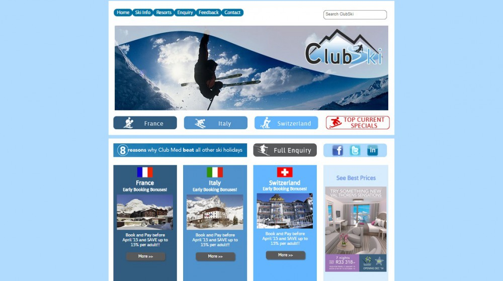 clubski-website-homepage
