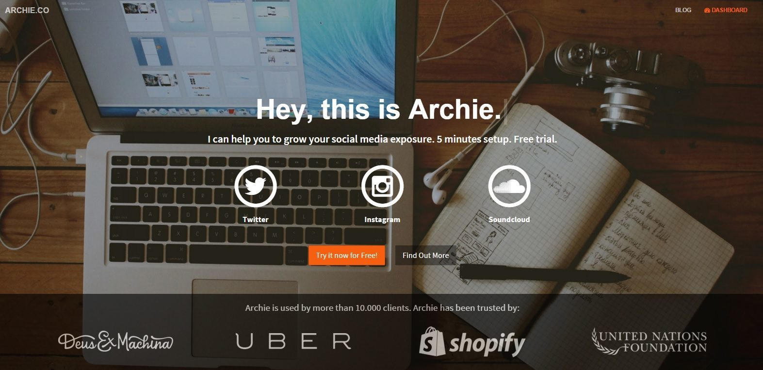 Archie Instagram twitter software